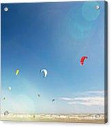 Kite Surfers Acrylic Print