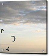 Kite Surfing On Sanibel  Acrylic Print