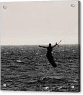 Kite Surfing Pose Acrylic Print