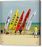 Kites Over Lake Michigan - Two Rivers Wi Acrylic Print