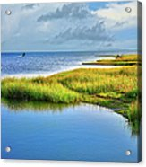 Kitesurfing On Ocracoke Outer Banks Acrylic Print