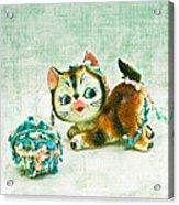 Kitty Mischief Acrylic Print