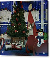 Kitty Says Merry Xmas Acrylic Print