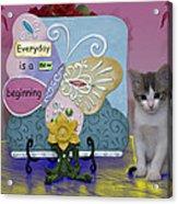 Kitty Says Wow Acrylic Print