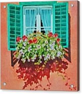Kitzbuhel Window Acrylic Print