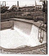 Kiva Motel -  Empty Pool Acrylic Print