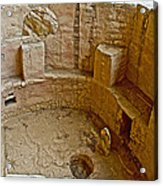 Kiva With Sipapu In Spruce Tree House On Chapin Mesa In Mesa Verde National Park-colorado Acrylic Print