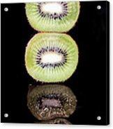 Kiwi On Black Acrylic Print