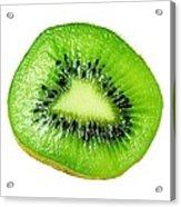 Kiwi On White Acrylic Print