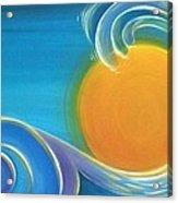 Kiwiana Surf Sun Acrylic Print