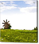 Kizhi Island Windmill Russia Acrylic Print