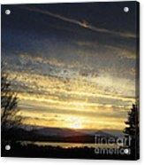 Klamath Lake Sunset Acrylic Print