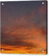 Klamath Sunset Of Fire Acrylic Print
