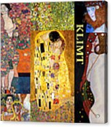 Klimt Collage Acrylic Print