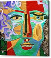 Klimt Face Acrylic Print