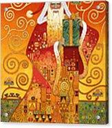 Klimt Santa Acrylic Print