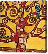 Klimt Study Tree Of Life Acrylic Print