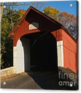 Knecht's Covered Bridge In October In Bucks County Pa Acrylic Print