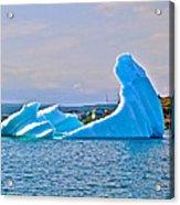 Kneeling Before The Queen Iceberg In Saint Anthony-newfoundland  Acrylic Print