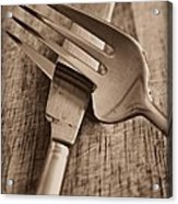 Knife And Fork Acrylic Print