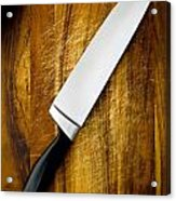 Knife On Chopping Board Acrylic Print