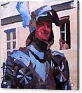 Knight In Full Armor During Parade Acrylic Print