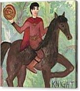 Knight Of Pentacles Acrylic Print