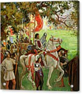 Knights Assembling, From Sir Nigel Acrylic Print