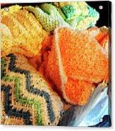 Knitting For Baby Acrylic Print