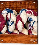 Knitting Yarn In Patriotic Colors Acrylic Print
