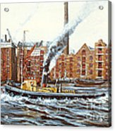 Knocker White Sailing Down River Past Rotherhithe Acrylic Print