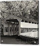 Knox Covered Bridge In Sepia Acrylic Print