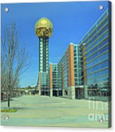Knoxville Tn Sunsphere Hdr Acrylic Print