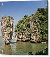 Ko Tapu Island In Thailand Acrylic Print