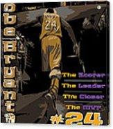 Kobe Bryant Game Over Acrylic Print