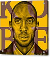 Kobe Bryant Lakers' Gold Acrylic Print by Rabab Ali