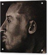 Kobe Charcoal 1 Acrylic Print by Cuca Montoya