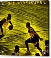 Kobe Lakers Acrylic Print