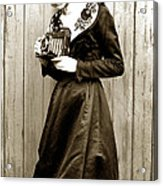 Kodak Girl With A Folding Camera Circa 1918 Acrylic Print