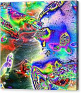 Koi Imagery Acrylic Print by Sharon McLain