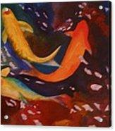 Koi In Deep Water Acrylic Print