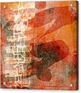 Koi In Orange Acrylic Print