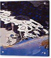 Koi Pond Abstract Acrylic Print