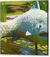 Koi Pond Fish Santa Barbara Acrylic Print by Barbara Snyder
