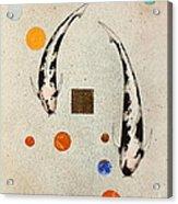 Koi Universe Utsuri Mono Painting Acrylic Print