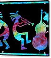 Kokopelli Jazz Trio Acrylic Print