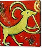 Kokopelli's Goat Tribal Trickster Acrylic Print