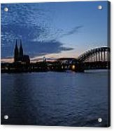 Koln Rhine Acrylic Print
