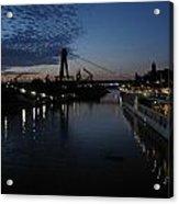 Koln Rhine Reflections Acrylic Print by David  Hawkins