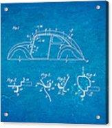 Komenda Vw Beetle Body Design Patent Art 1942 Blueprint Acrylic Print